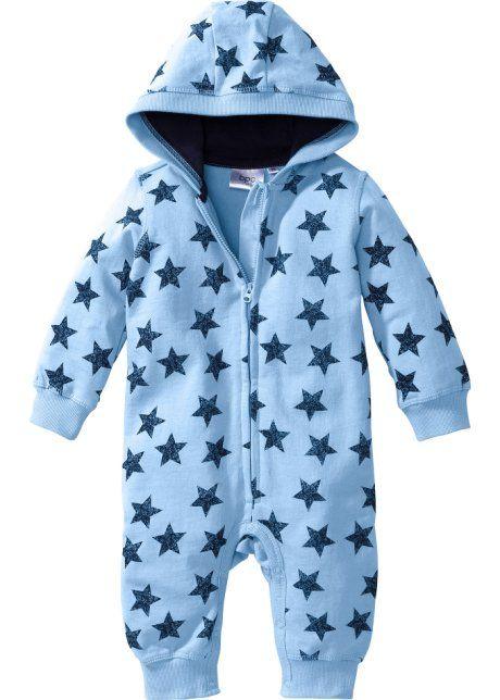 Мода для малышей: трикотажный комбинезон из биохлопка, bpc bonprix collection, нежно-голубой меланж