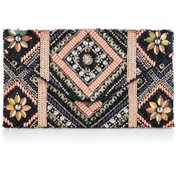 New Look Navy Floral Embellished Clutch ($29) ❤ liked on Polyvore featuring bags, handbags, clutches, blue pattern, navy purse, floral clutches, floral handbags, floral purse and navy blue clutches