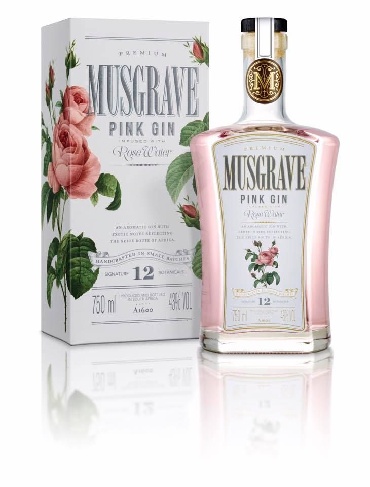 Musgrave Pink Gin and box