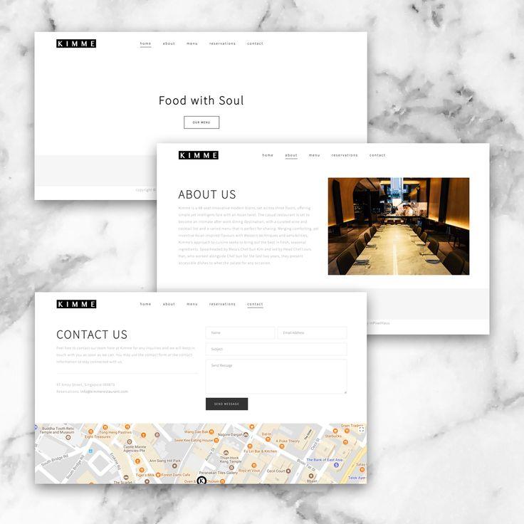 Kimme Restaurant Website Development #inpixelhaus #webdesign #webdevelopment #website #restaurant #singapore