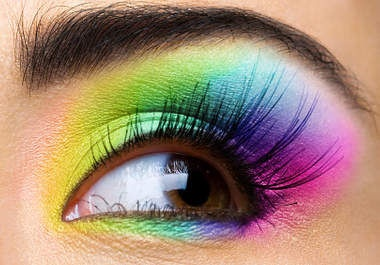 (make-up,eye,rainbow)