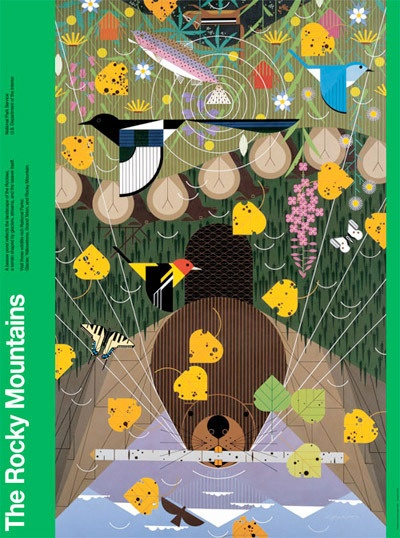 Charley Harper Gallery: Charli Harpers, Art, Rocky Mountains, Charley Harpers, Wall Calendar, Harpers 2014, National Parks, Charlie Harper, Jigsaw Puzzles