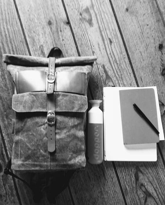 Bekijk dit items in mijn Etsy shop https://www.etsy.com/nl/listing/526000435/roll-top-backpack