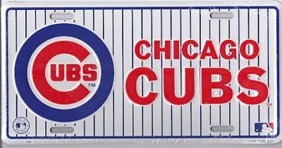 Chicago Cubs Metal License Plate MLB Baseball Sign L511 | eBay