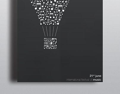 music   poster • Poster for the 21st of june, international festival of Music. • http://on.be.net/W0yjtf