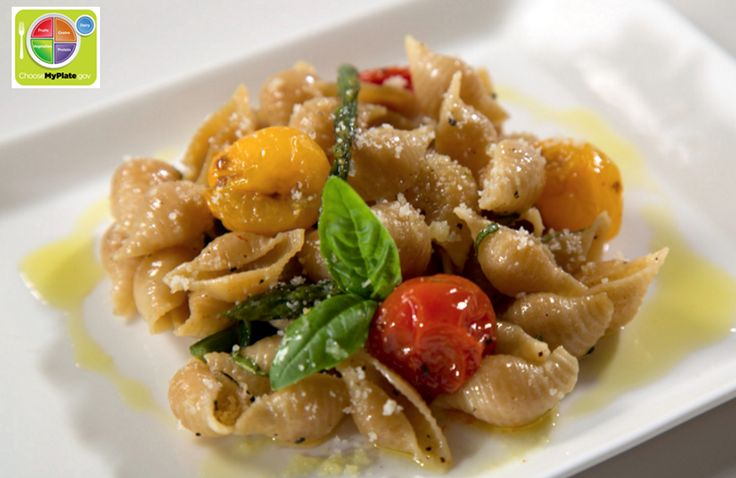Passion for Pasta - Whole-Grain Shells with Roasted Asparagus, Basil...