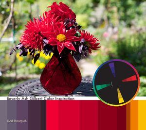 Beverly Ash Gilbert Color Inspiration: Red Bouquet