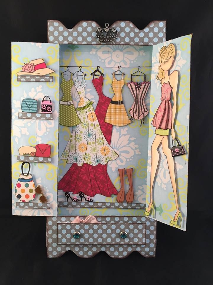 Armoire for Julie Nutting Prima Dolls. Link to the video tutorial on my page.
