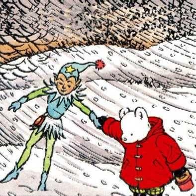 Rupert Bear Cards Rupert and Jack Frost