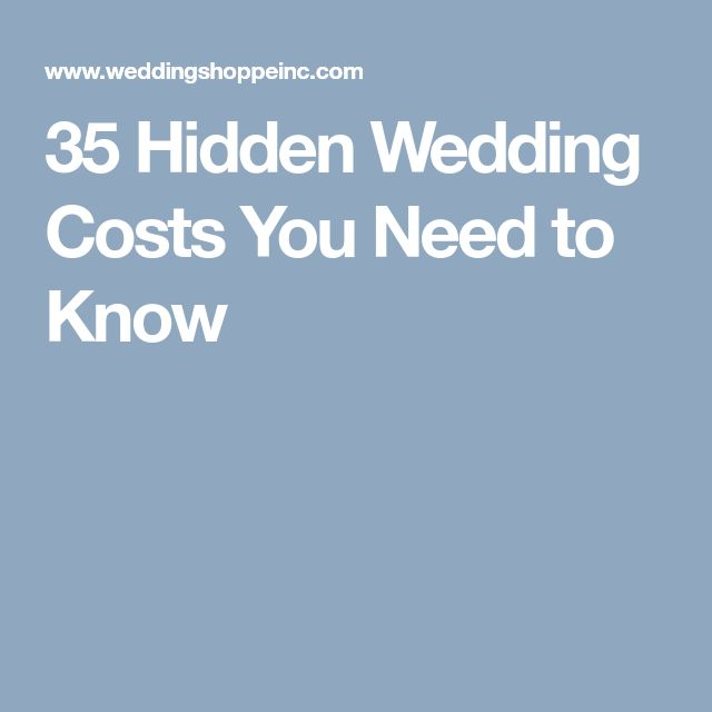 35 Hidden Wedding Costs You Need to Know