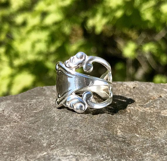 Sterling Silver Fork Ring – Cigar Band Ring – Triple Band Ring – Cut Out Ring - Wide Contemporary Ring – Fork Band - Funky WhistlingGypsyINC