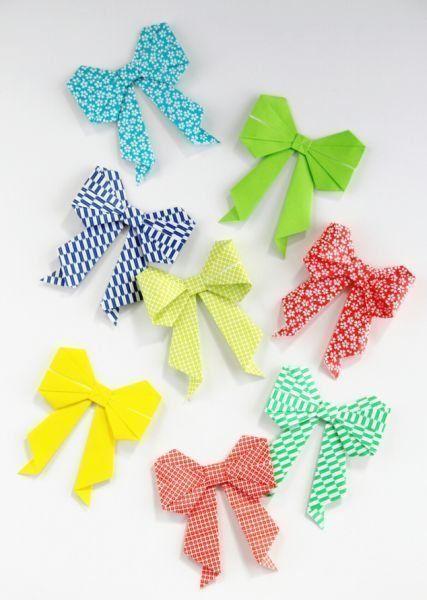 origami bows tutorial