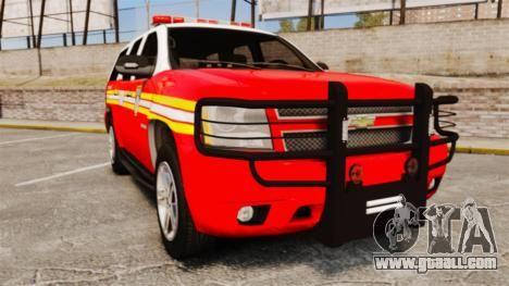 Chevrolet Tahoe Fire Chief v1.4 [ELS] para GTA 4
