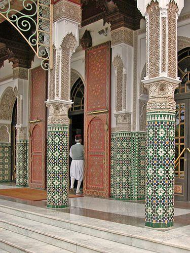 L'entrée de l'hôtel la Mamounia - marrakech