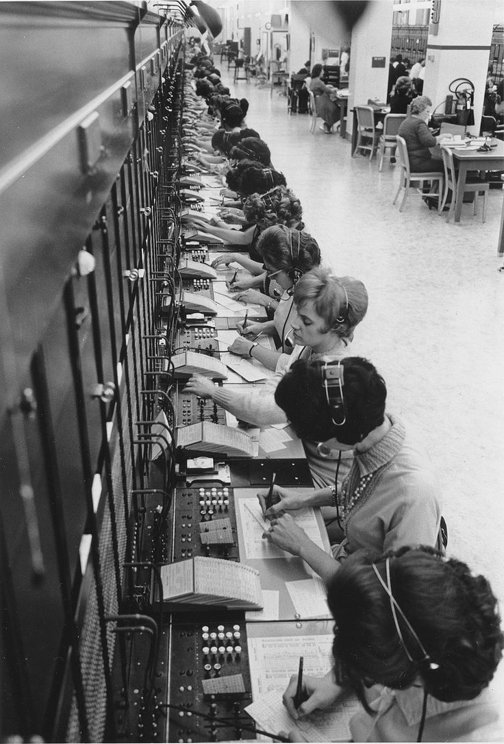 """Hello Operator? I'd like to make a call."" Southwestern Bell Telephone switchboard (late 40s early 50s). In the period after World War II telephones and dial service became a priority for the nation as the telephone system became the primary way to connect people for social networking."
