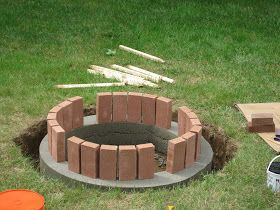 Day Two of our DIY Brick Fire Pit project including fire bricks and mortar.
