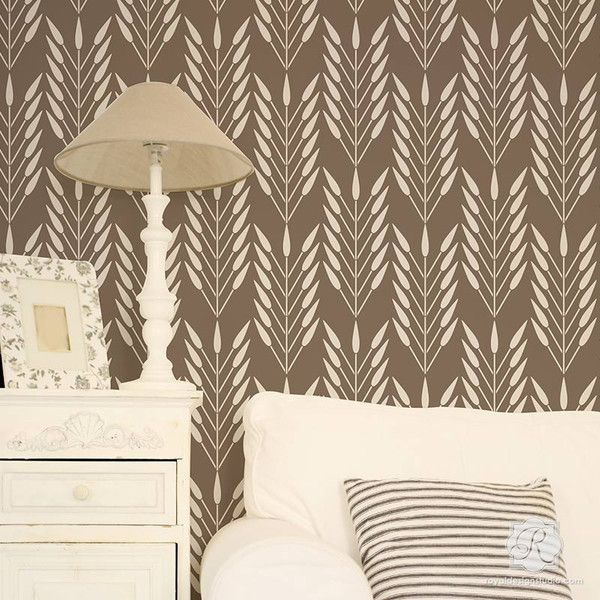 DIY Wallpaper Look Using African Design And Large Wall Stencils   Royal  Design Studio