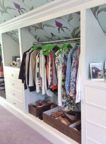 how to make closets in the attic
