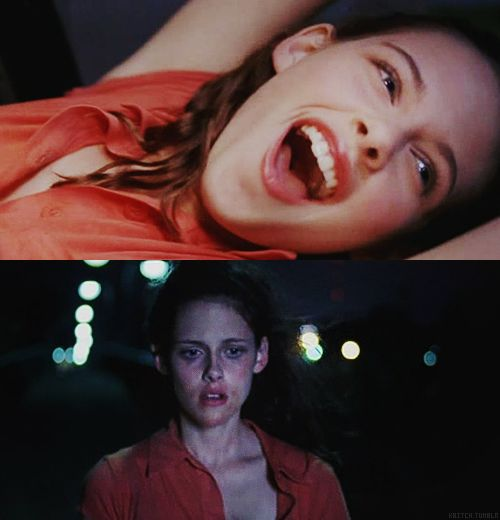On the way to the party vs. on the way home from the party. Speak 2004 (Jessica Sharzer) - Kristen Stewart