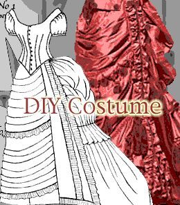 DIY Victorian Dress Costume Patterns.  Never know when we might need these.....