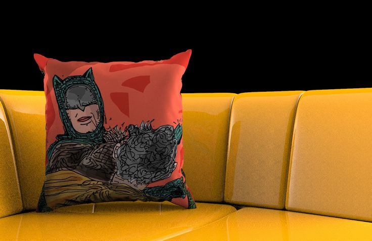 The Batguy Pillow. This pillow is still in concept phase but we are working on it.  Do you dig it?