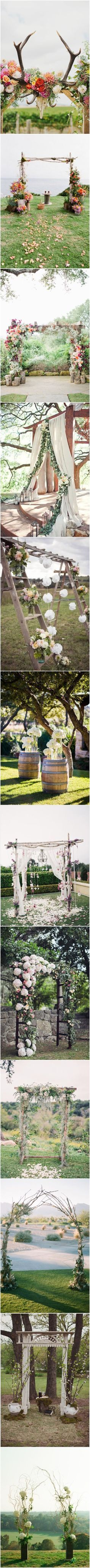 Rustic Wedding Ideas - Floral Wedding Arches Decorating Ideas