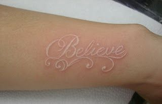I love White ink tattoos. I know when people see tattoos they are supposed to be bold but I have always found that the suddle ones my favorite