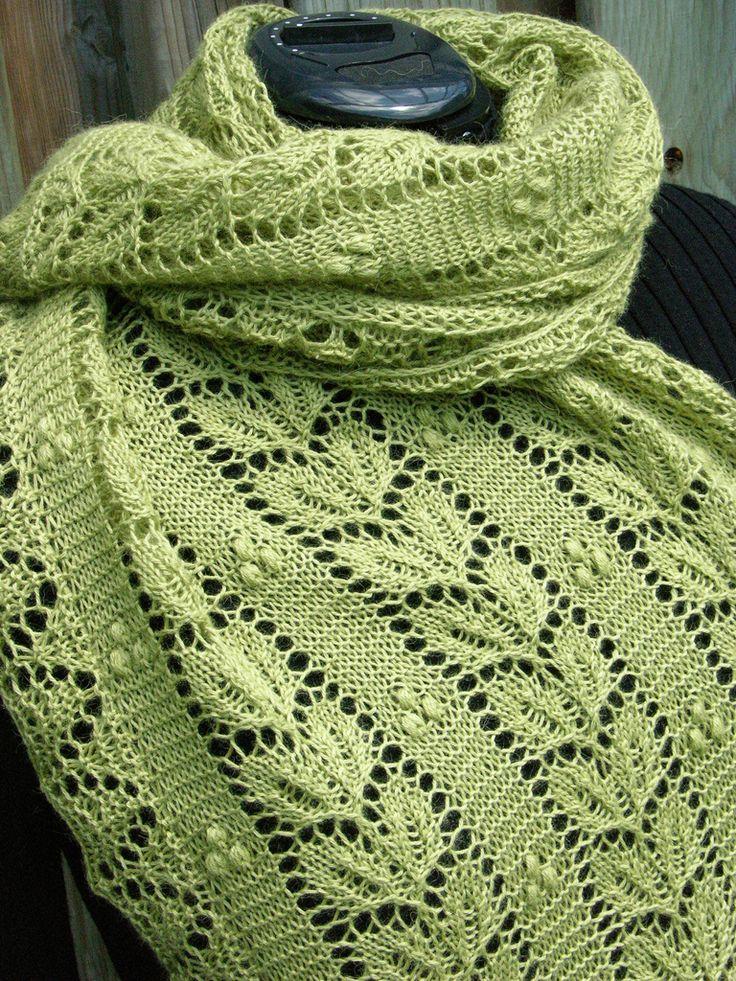 Leaf & Nupp Shawl by Nancy Bush - Knitting pattern