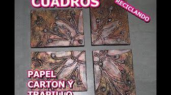 COMO HACER PORTAVELAS DE CARTON CON GUARDACOSAS - YouTube