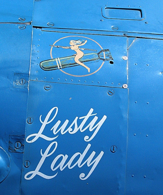 """Lusty Lady"" nose art"
