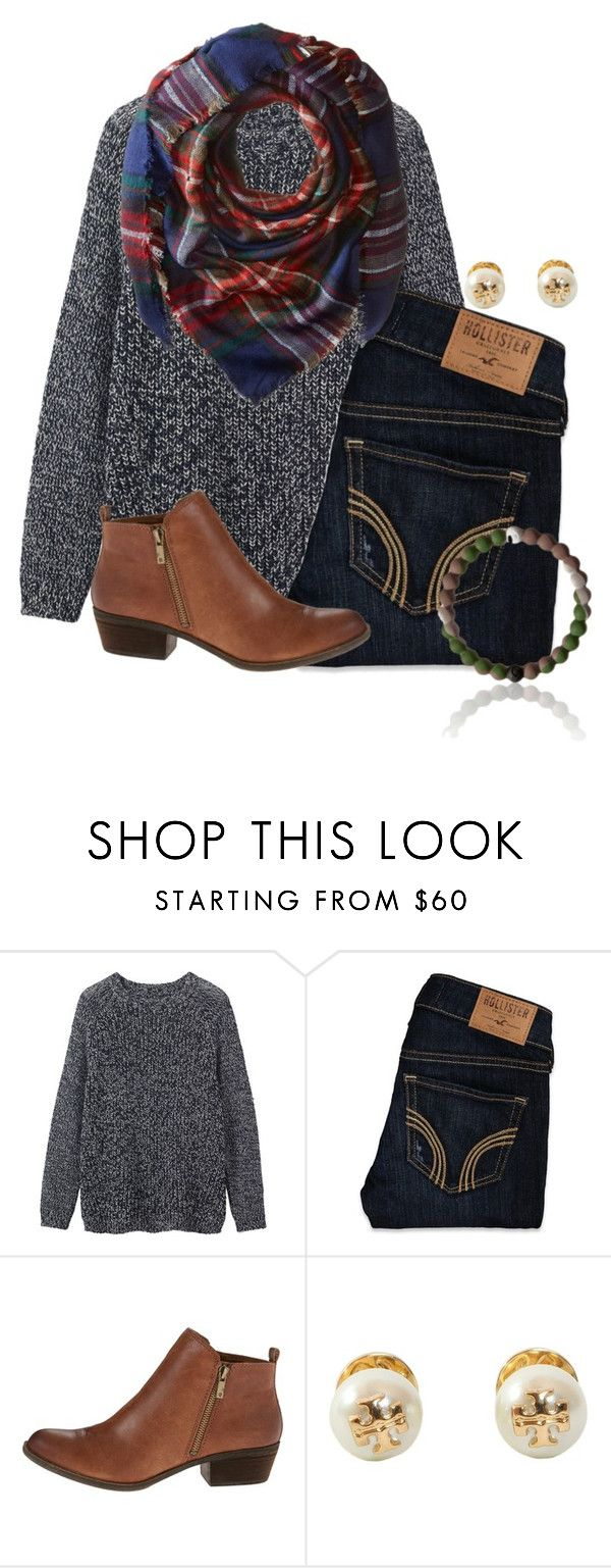 """Nice and warm☕️"" by flroasburn ❤ liked on Polyvore featuring Toast, Hollister Co., Lucky Brand, Tory Burch and Steve Madden"