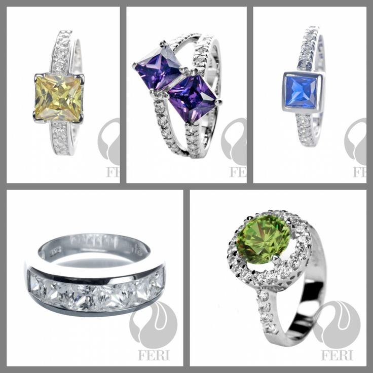 Colours/Colors for her.  #rings #fashion #women #jewellery