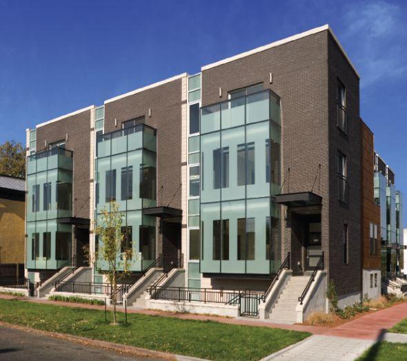 Modern Row House Plans: Modern Browstones - Merchant's Row, Denver