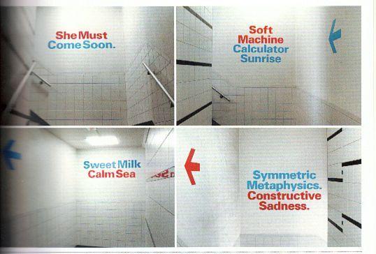 """Project: """"Four SMCS acrostics"""" staircase installation, 2004. Client: Stedelijk Museum CS ..."""