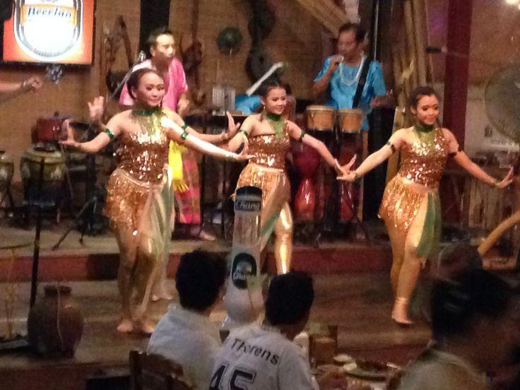 In the restaurant of Bangkok