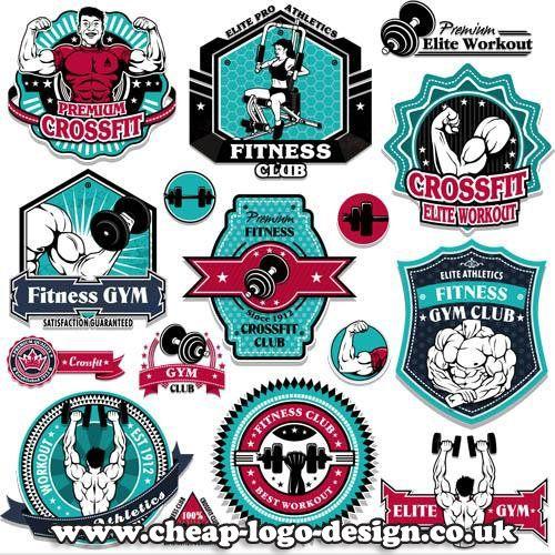 bodybuilding gym logo design ideas www.cheap-logo-design.co.uk #bodybuilding #gymlogo #muscle