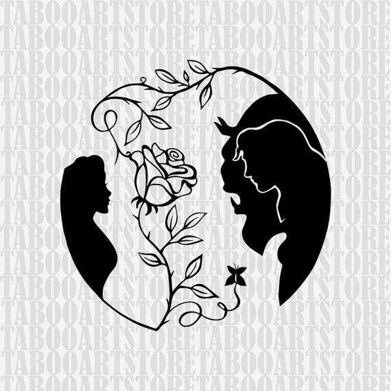 Beauty And The Beast Svg Beast Clipart Disney Rose Eps Disney Beauty And The Beast Eps Beauty An Drawings Disney Beauty And The Beast Art