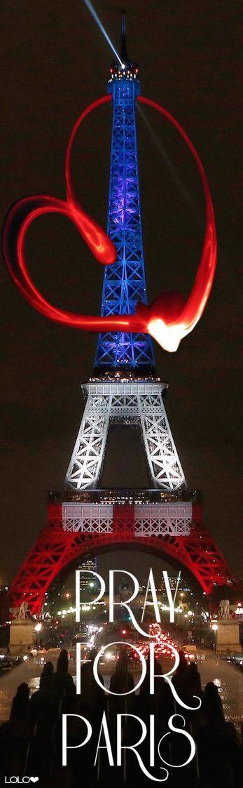 PARTAGE DE MONIKA  DZ  29 .............Sur décision de la Maire de Paris, l'illumination de la tour Eiffel en bleu blanc rouge de la tombée de la nuit à 1h00 du matin est prolongée jusqu'au 25 novembre inclus.........As requested by the Mayor of Paris, the Eiffel Tower will still be lit in the colors of the French flag from nightfall to 1:00 am until November 25th included.........