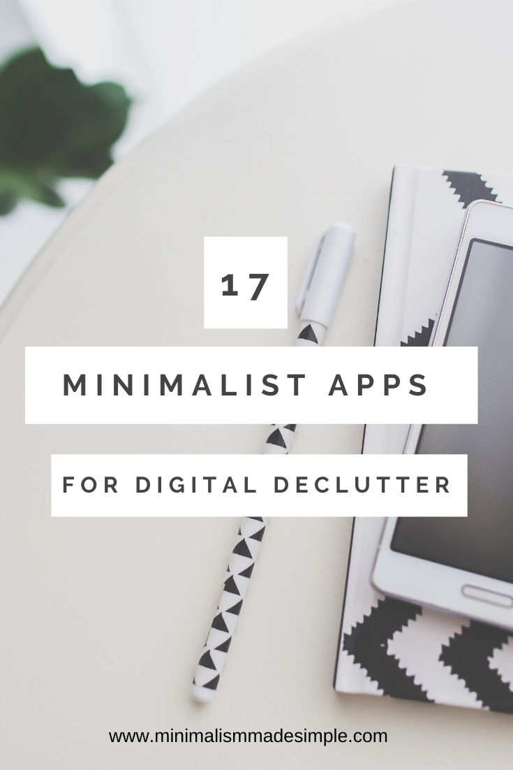 Looking for a way to digitally declutter and use your phone with more simplicity? Here are 17 apps for minimalists that can help them to declutter and live more simply. These apps will help you meet your declutter goals and stay on track.