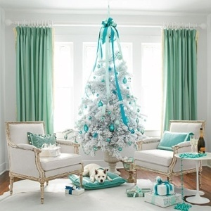 Tiffany and Co.   I need this in my life!!!Holiday, White Christmas Trees, Decor Ideas, Blue Christmas, Tiffany Blue, Tiffanyblue, Colors Schemes, Christmas Decor, Aqua
