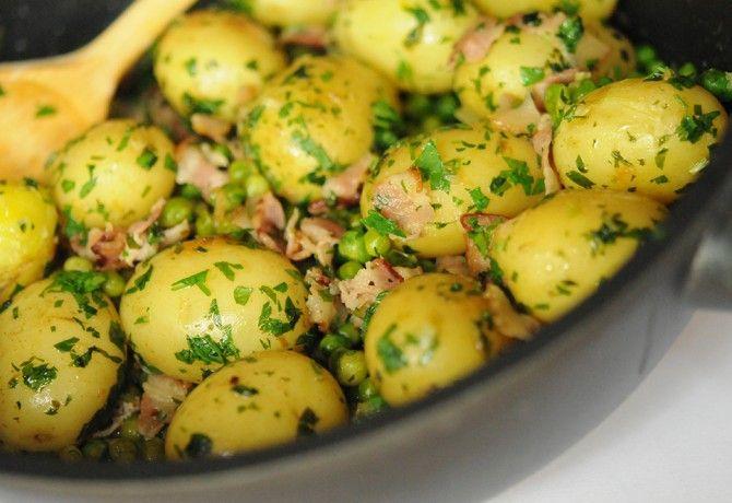 Borsós-szalonnás petrezselymes újkrumpli