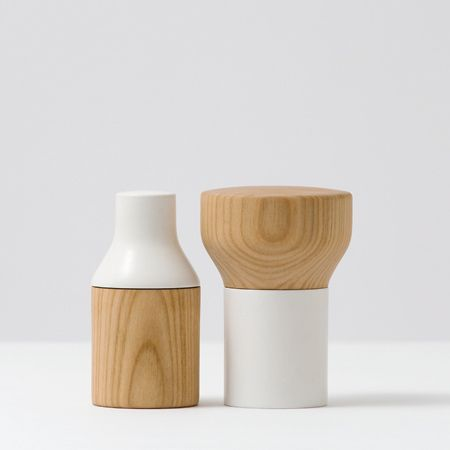 Florian Hauswirth for PostFossil | Doublefacette salt and pepper mills