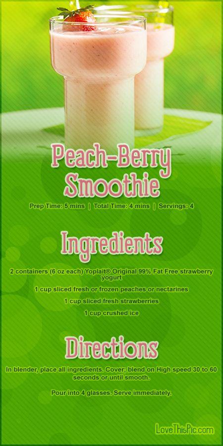 Peach Berry Smoothie Recipe