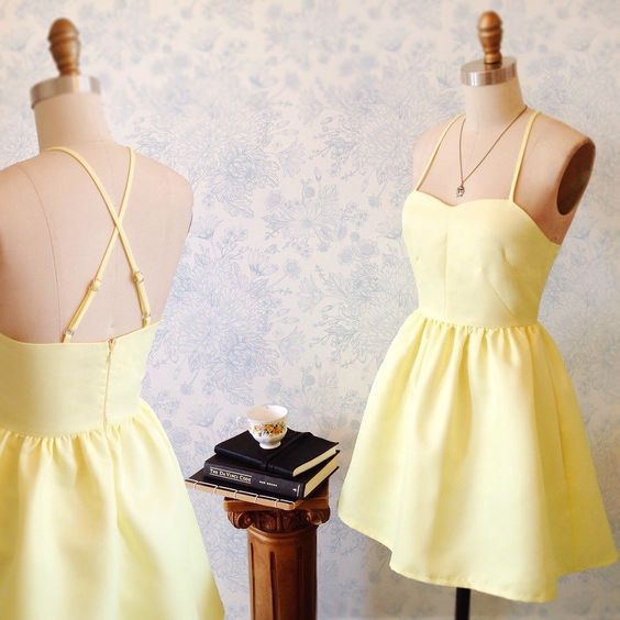 2017 homecoming dress, short homecoming dress,yellow homecoming dress,homecoming dresses
