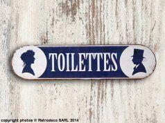 Plaque décorative Toilettes, déco brocante