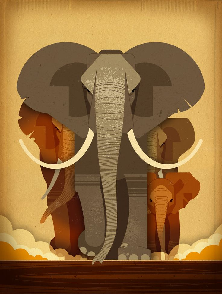 Elephant Stampede by Dieter Braun | East End Prints