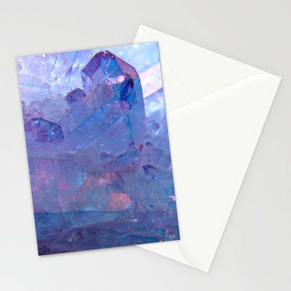 Purple Quartz Crystal Stationary Purple Crystal Stationary