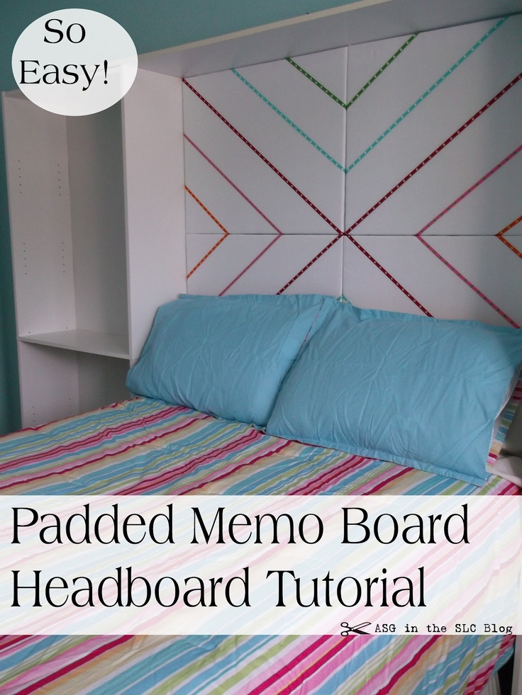 ASG in the SLC: Padded Head Board with Ribbon Trim Easy DIY!
