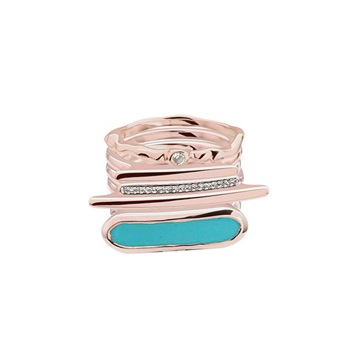 My personalised Monica Vinader ring stack #stackandshare