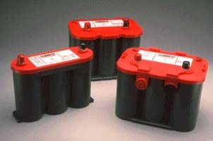 Optima Red Top Battery with Dual Posts